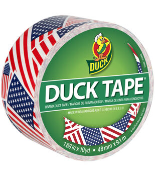 """Patterned Duck Tape 1.88""""X10yd-US Flag"""