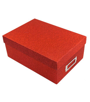 Red Glitter Photo Storage Box