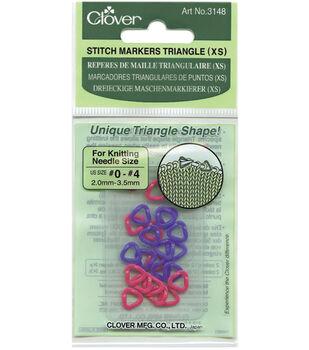 Clover Triangle Stitch Markers XS-24PK