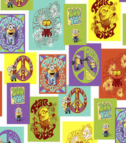 Minions Patch Cotton Fabric, , hi-res