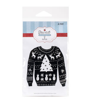 Gourmet Rubber Stamps Cling Stamps-Sweater