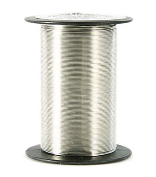 24 Gauge Wire 25 Yards/Pkg-Silver
