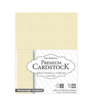 """Cardstock 8.5""""X11"""" 40/Pkg-Vanilla Cream-Textured"""