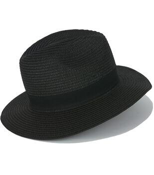 Laliberi Panama Black Straw Hat