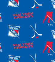 New York Rangers  NHL Tossed Print Fleece Fabric, , hi-res