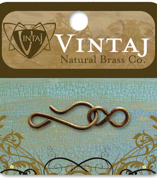 Vintaj Metal Clasp-Hook & Eye 35x11mm