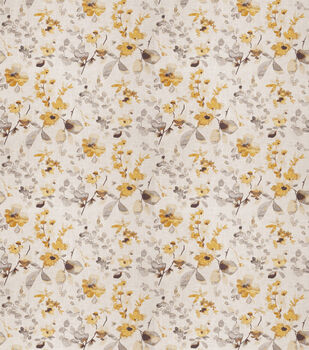 Eaton Square Upholstery Fabric-Goldstone/Yellow Grey