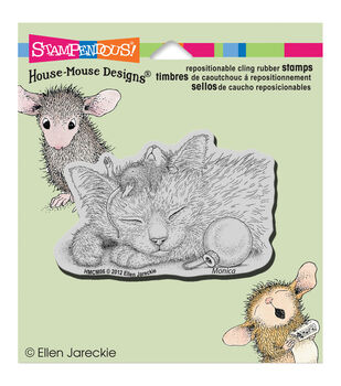 """Stampendous House Mouse Cling Rubber Stamp 4.5""""X4.75"""" Sheet-Friendly Dreams"""