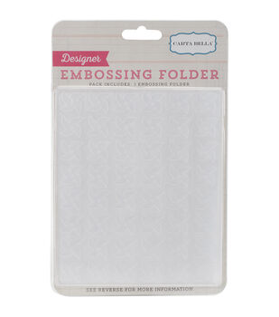Carta Bella Pinwheels Embossing Folder 5''x5.875''