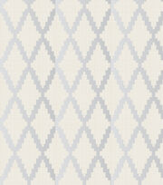 Legacy Studio™ Cotton Fabric-Metallic Silver Trellis, , hi-res