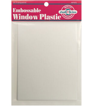 Judikins Embossable Window Plastic Sheets 4.25''x5.5''