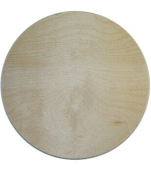 "Unfinished Wood Baltic Birch Plaque 1/Pkg-Circle 10"""