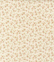 Premium Cotton Fabric-Tiny Roses Ivory, , hi-res