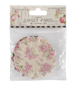 Dovecraft Sweet Paris Paper Blossoms & Leaves