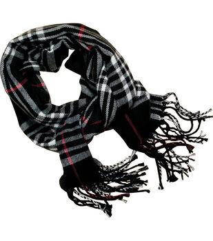 Laliberi Ready To Wear Winter Scarf Black Plaid