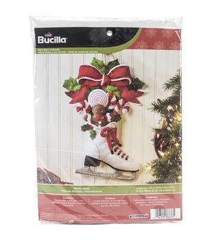 "Bucilla® 11""x16"" Wall Hanging Felt Applique Kit-Holiday Skate"