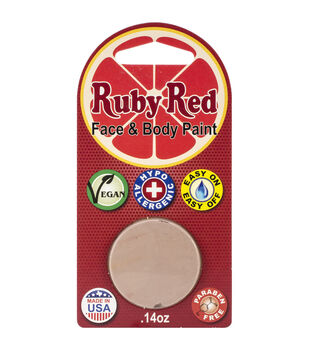 Ruby Red Face Paint .14oz-Light Beige