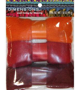 Dimensions Orange Red Roving Trio