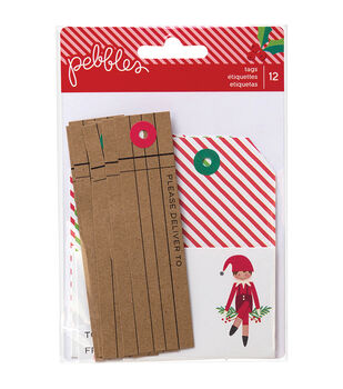 Pebbles Home For Christmas Cardstock Tags