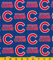 Chicago Cubs MLB Cotton Fabric 58'', , hi-res