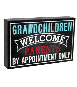 Escape To Paradise Wall Banner-Grandchildren Welcome