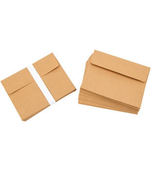 Core'dinations Heavyweight A2 Cards with Envelopes 50/Pkg-Kraft