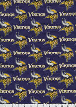 Minnesota Vikings NFL Cotton Fabric by Fabric Traditions, , hi-res