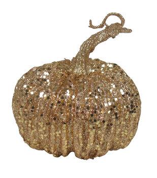 Pumpkin Boutique Extra Small Pumpkin-Gold Glitter