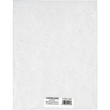 Grafix Medium Weight Chipboard Sheets White