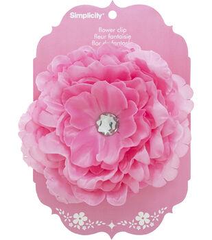 Large Flower Clip Pink