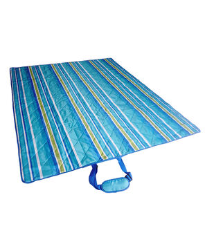 Escape To Paradise Outdoor Blanket-Cool Stripe