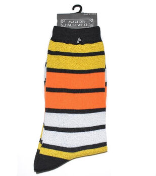 Maker's Halloween Socks-Stripe Crew