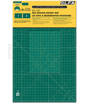 "Olfa Gridded Cutting Mat Set with Clips 23"" x 70"""
