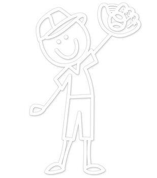 Plaid® Me&My Peeps Family Auto Decal-Baseball Boy