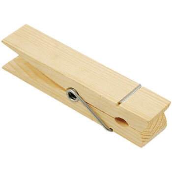 Multicraft Imports Wood Jumbo Clothespin Natural