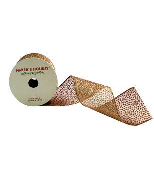 Maker's Holiday 2.5'' X 25' Ribbon-Mini Sparkle Dot