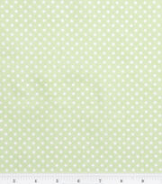Nursery Baby Basic Fabric Dots White on Green, , hi-res