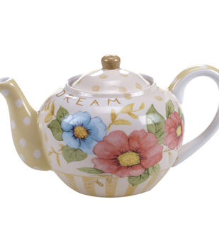 Susan Winget Tea Pot-Floral Dot