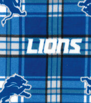 Detroit Lions NFL Plaid Fleece Fabric by Fabric Traditions, , hi-res