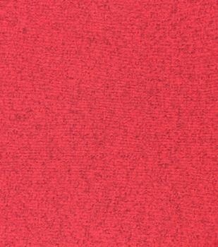 Sweater Fleece Fabric-Red Heathered