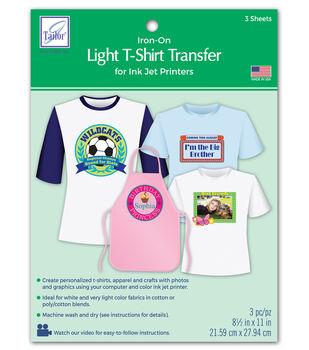 June Tailor Light T-Shirt Transfer Paper 3/Pkg