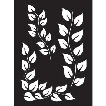 Ranger Dyan Reaveley's Dylusions Stencils Leaf Flourish 9''x12''