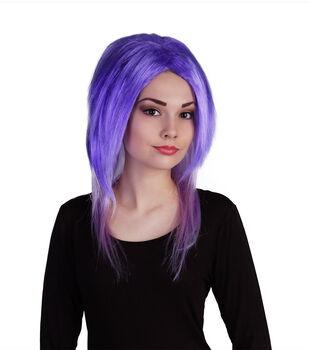 Maker's Halloween Wig-Electric Blue & Lavender