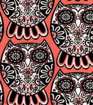 Snuggle Flannel Fabric-Diamond Owls