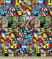 Marvel Avengers Comic Patch Cotton Fabric, , hi-res