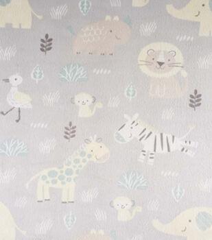 Magic Moon Nursery Fabric-King Of The Jungle Animals
