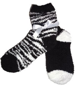 Zebra Black & White Tactile Sock