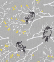 Keepsake Calico™ Cotton Fabric-Gray Birds On Branches, , hi-res