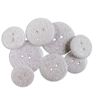 Blumenthal Lansing-Favorite Findings Glitter Buttons-Frost Opaque