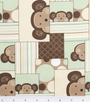Nursery Fabric Monkey Patch